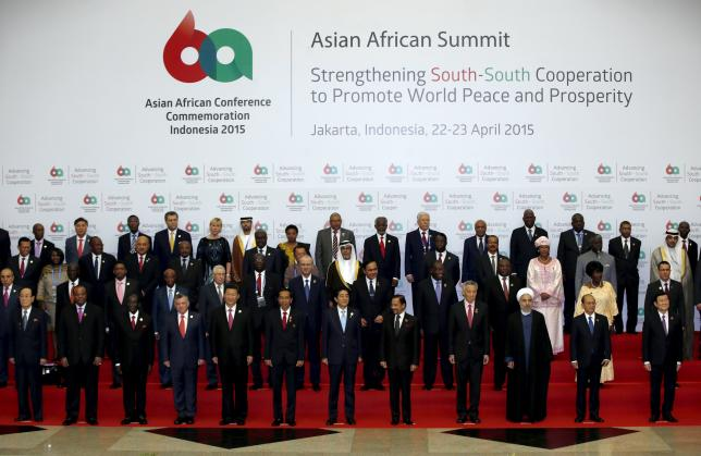 Leaders from Asia and Africa at the Asian-African Conference in Jakarta April 22, 2015. (Photo/Reuters/Darren Whiteside)