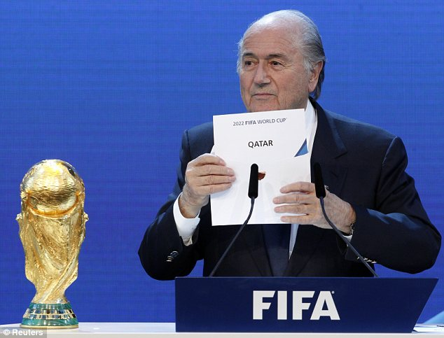FIFA President Sepp Blatter announces Qatar as the host nation for the FIFA World Cup 2022. (BBC)
