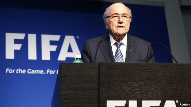 FIFA President Sepp Blatter addresses a news conference at the FIFA headquarters in Zurich, Switzerland, June 2, 2015.(Reuters)