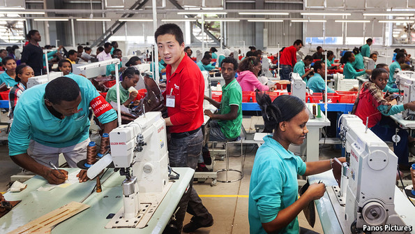 The Huajian factory outside Addis Ababa. (The Economist)