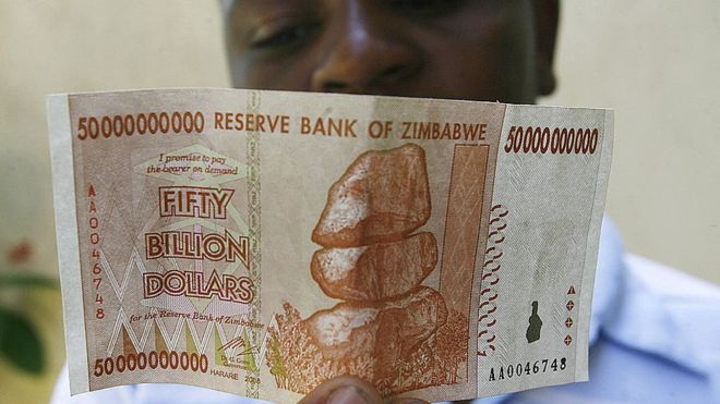 Zimbabwe dollar note. (Photo/AFP)