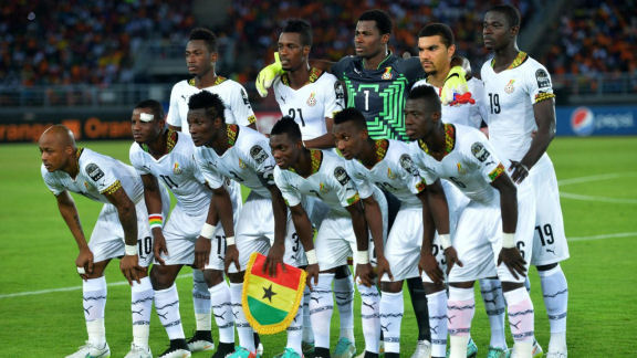 The Black Stars are the 36th best national football team in the world. (Photo/AFP)