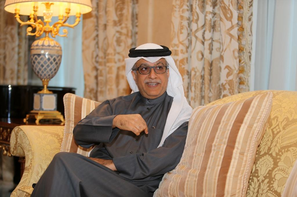 The head of the Asian Football Confederation and FIFA presidential candidate,Sheikh Salman. (Photo/AFP/Karim Jaafar)