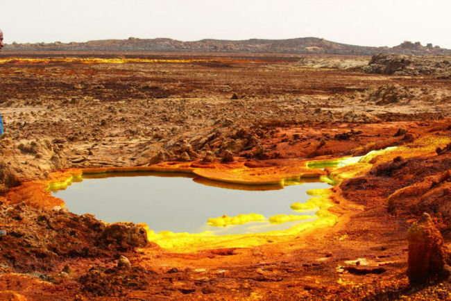 Located near the border of Ethiopia and Eritrea, the Danakil Depression.(Photo/Europlanet/Felipe Gomez)