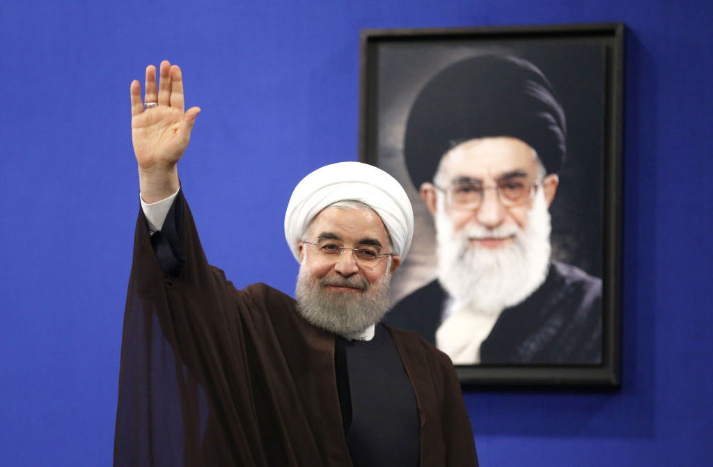 President Hassan Rouhani of Iran after delivering a televised speech in the capital, Tehran, on May 20, 2017. (Getty Images)