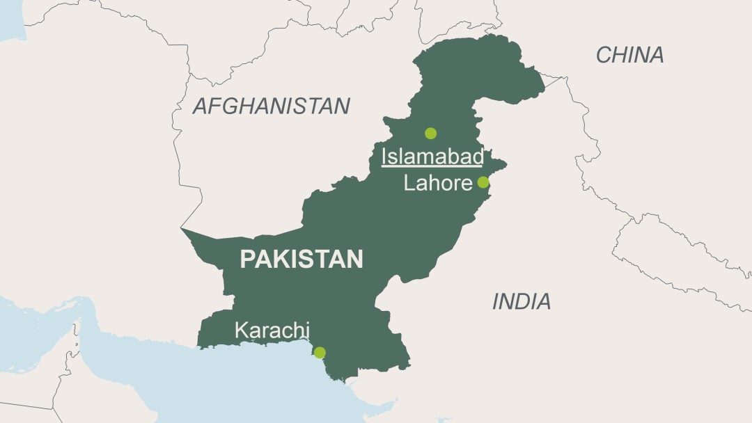 Map of Pakistan. (AFP)