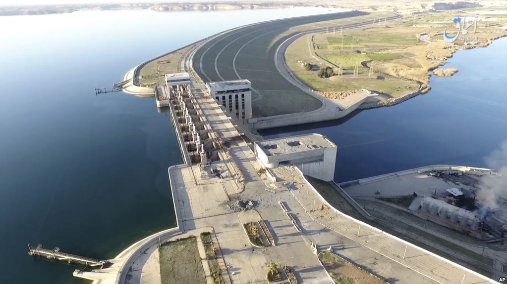 This still image the Tabqa Dam, in Raqqa, Syria. (AP)