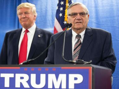 President Donald Trump and former Sheriff of Maricopa County, Arizona Joe Arpaio. (AFP)