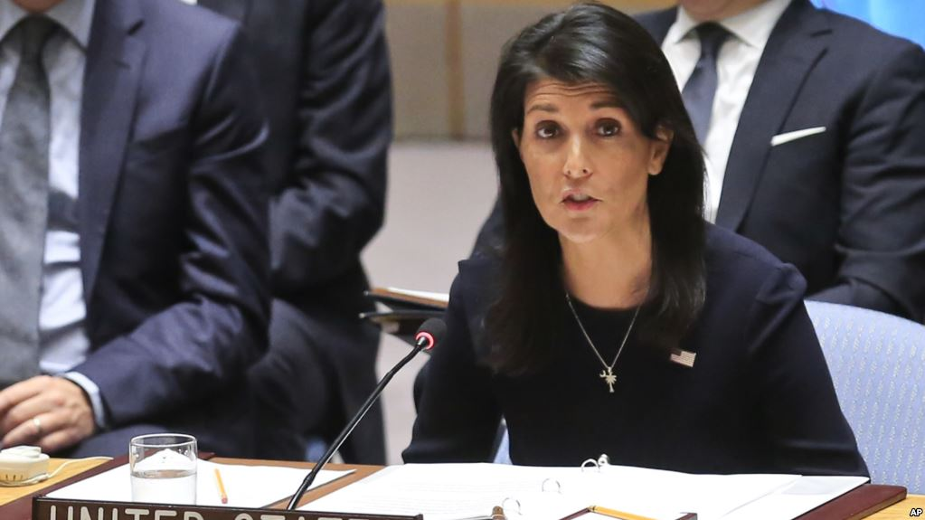 United Nations U.S. Ambassador Nikki Haley addresses a U.N. Security Council meeting on North Korea, September 4, 2017 at U.N. headquarters. (AP)