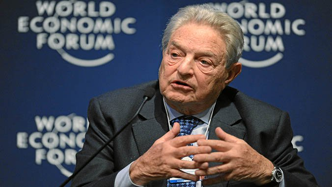 George Soros World Economic Forum in Davos, Switzerland. (AFP)