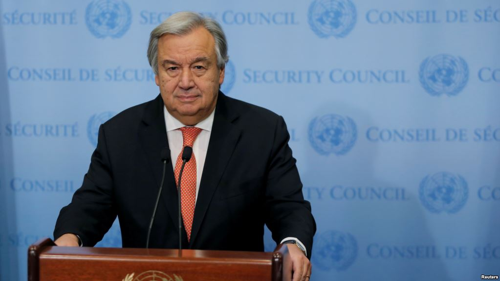 United Nations Secretary General Antonio Guterres. (Reuters)