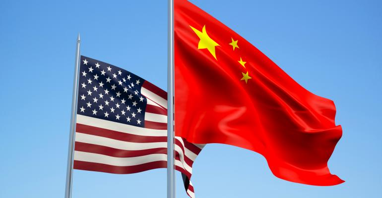 United States and China flags. (AFP)