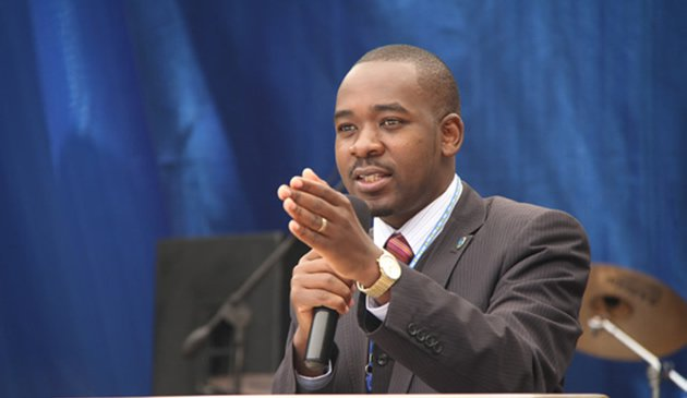 Movement for Democratic Change acting leader Nelson Chamisa. (AFP)