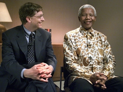 Nelson Mandela and Bill Gates