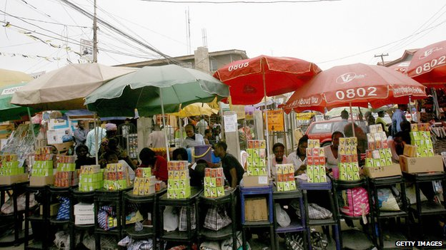 Market for mobile phones in Lagos. (Getty Images)