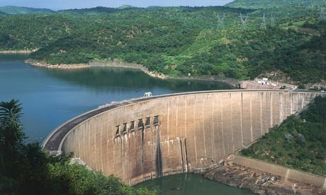 Kariba hydroelectric dam on the Zambezi River, Zimbabwe. (BBC)
