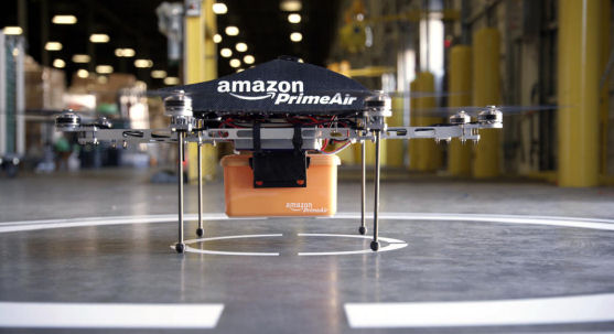 Prime Air unmanned aircraft project that Amazon is working on in its research and development labs. (AP/Amazon)