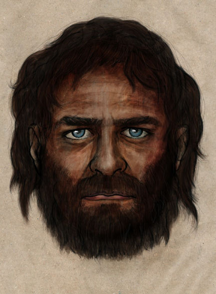 An illustration of what the ancient hunter-gatherer may have looked like. Image - CSIC