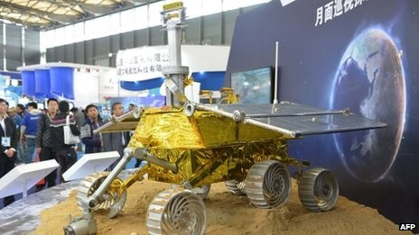 A model of China's lunar rover, named