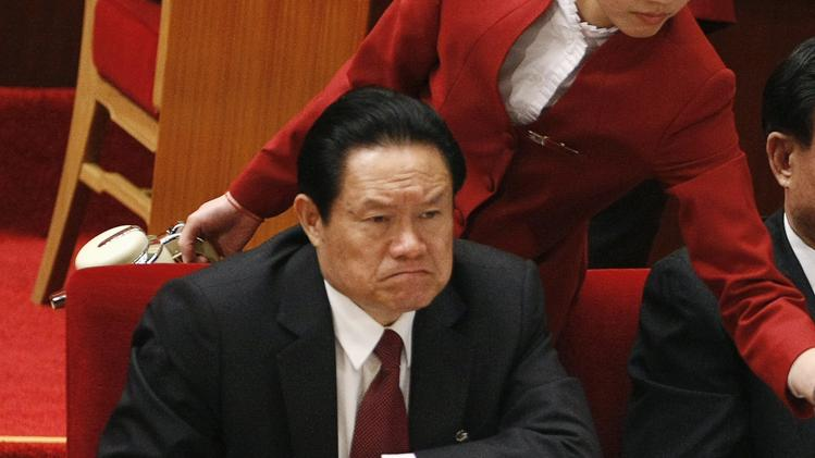 File - October 15, 2007. Former China's  Public Security Minister Zhou Yongkang in Beijing , October 15, 2007. (REUTERS/Jason Lee)