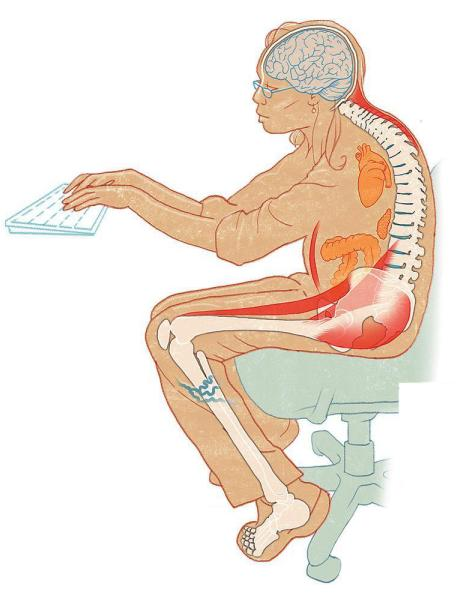 Sitting Too Much Is Harmful for Our Bodies, Minds, and Spirits. (The Washington Post)